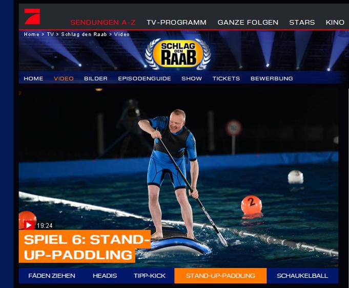 Success Starboard Sup Bei Schlag Den Raab Boardsportsprcom